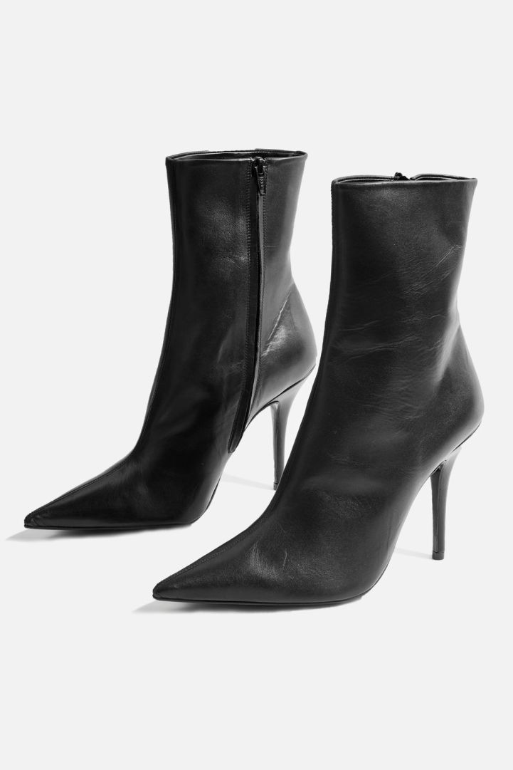 topshop black Hazzard ankle boots