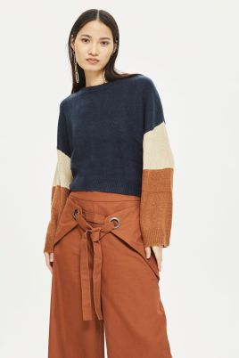 topshop colour block jumper
