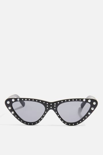 topshop pearly pointy sunglasses