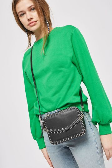 topshop rogue whipstitch cross body bag
