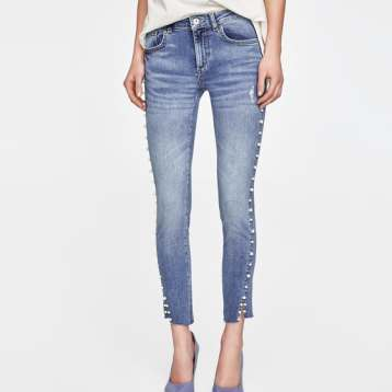 jeans with pearl