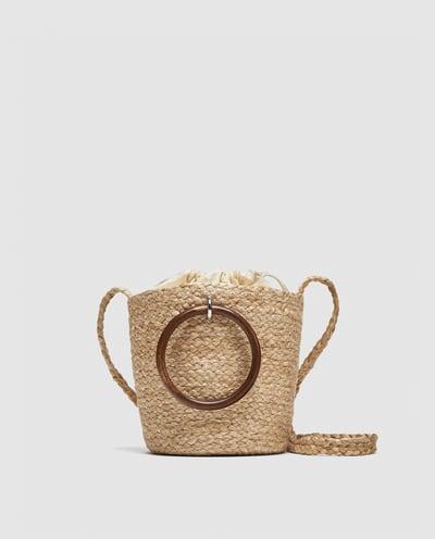 wooden handle bag