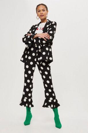 polka trousers topshop