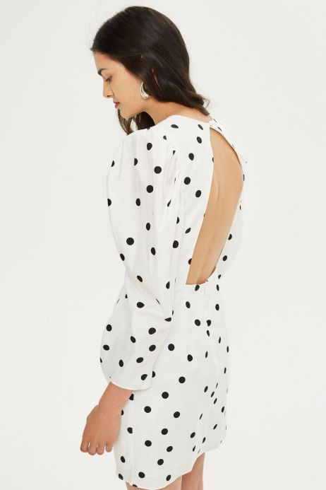 topshop polka dress