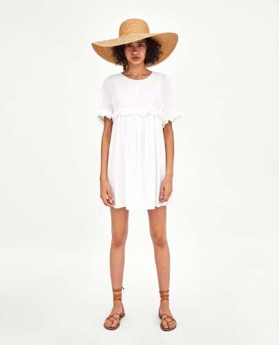 white dress zara