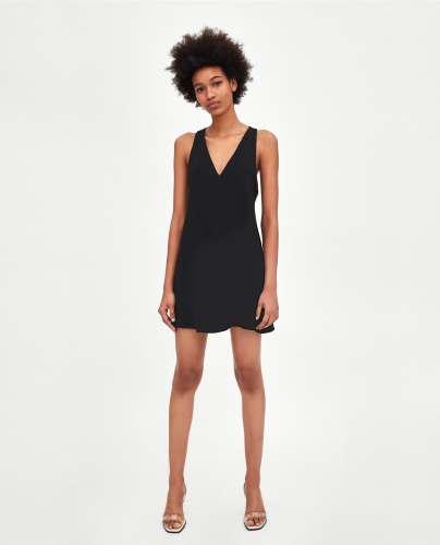 zara dress black